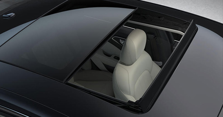 two available sunroofs—the standard-sized power sunroof and the significantly larger dual-pane sunroof